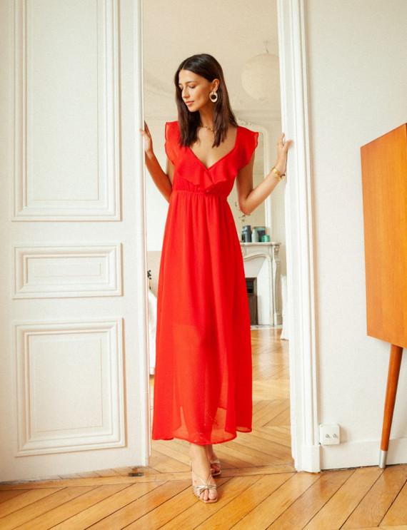 Red Charlène dress