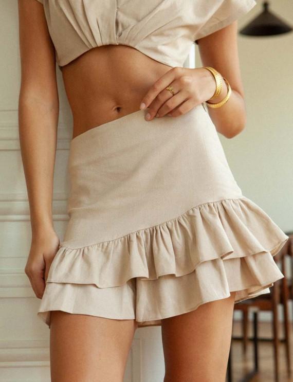 Jupe-short beige Volver