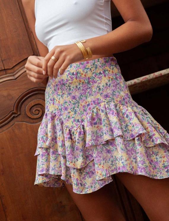 Lilac floral Milana skirt