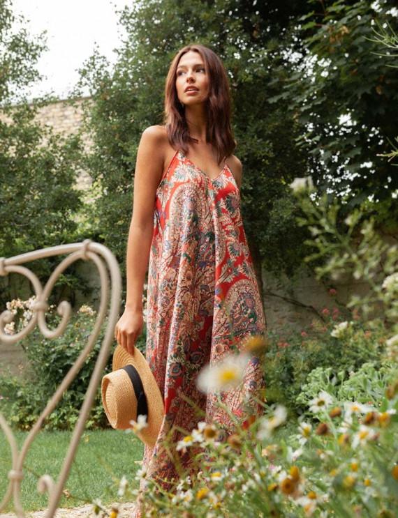 Terracotta Anila printed dress