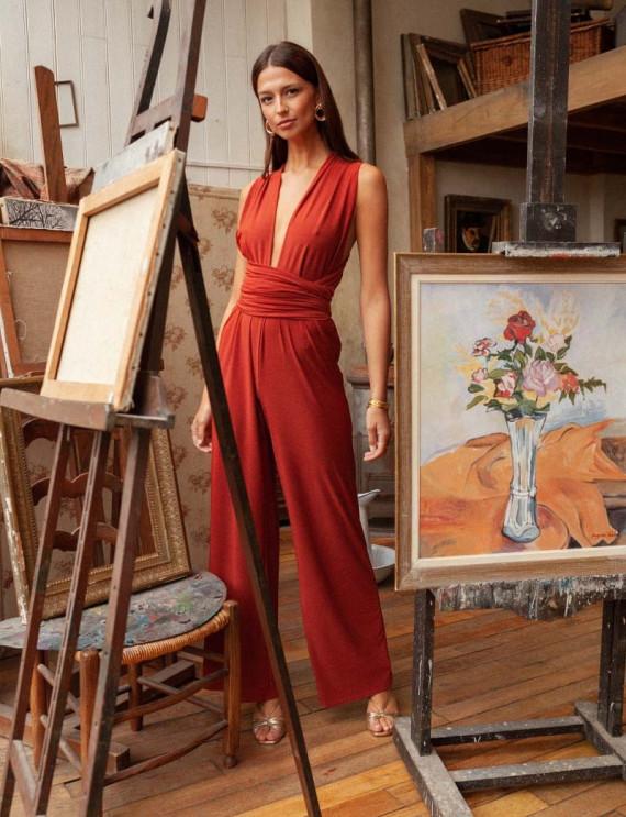 Terracotta Gabriella jumpsuit