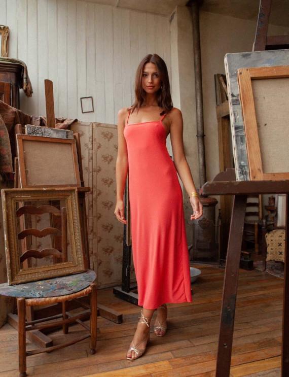 Coral Lola dress