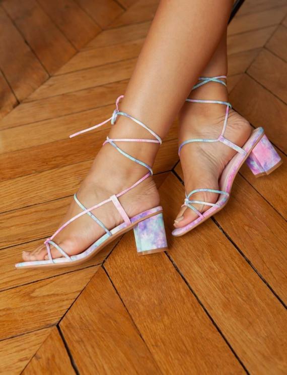Tie and dye Allira sandals