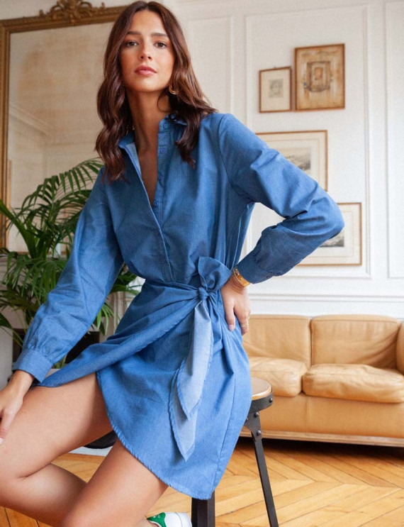 Robe en jean bleu Joana