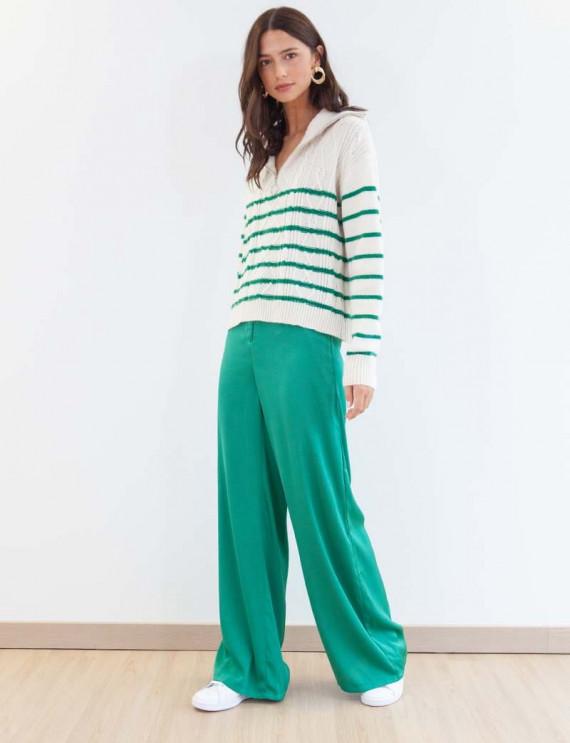Green Wilson satin pants