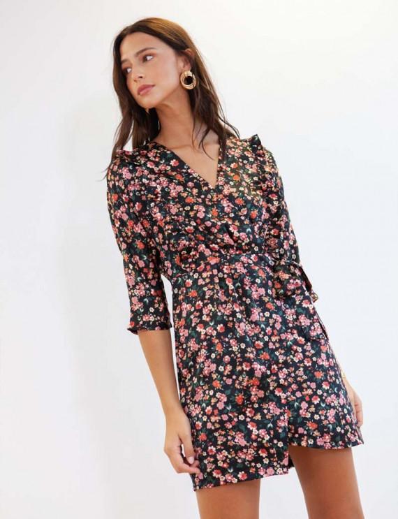 Black floral Maryse dress