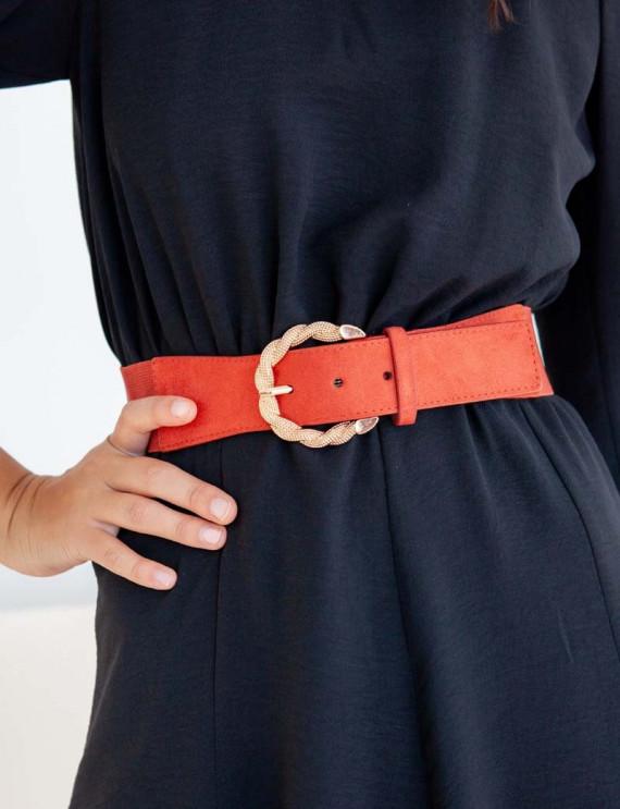 Brick red Elna belt