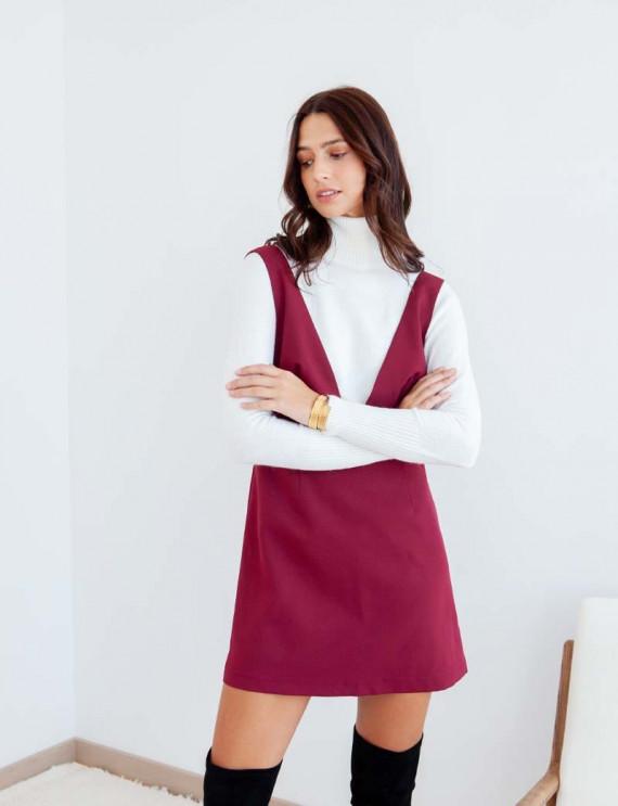 Burgundy Nela dress