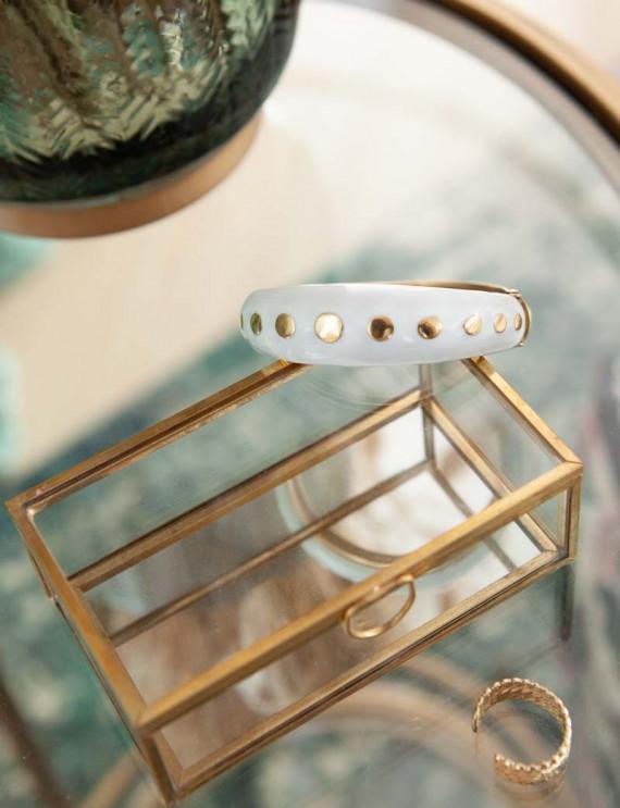 Ecru and golden bracelet