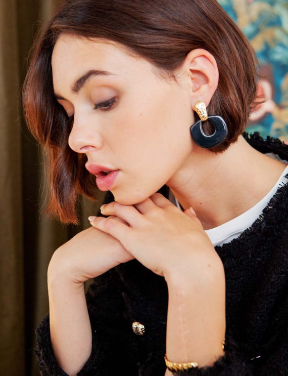Black Gaia earrings