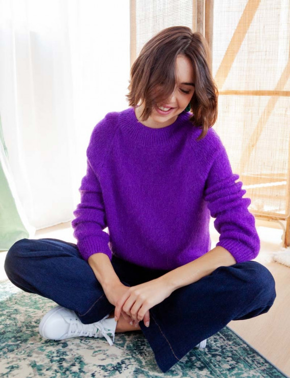 Purple Valentin sweater