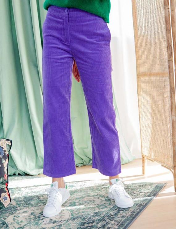 Purple Diego corduroy pants