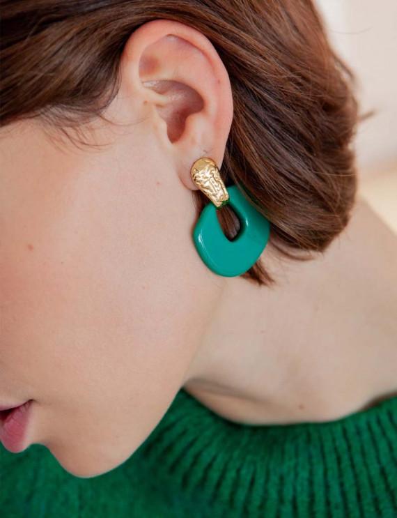 Green Gaia earrings