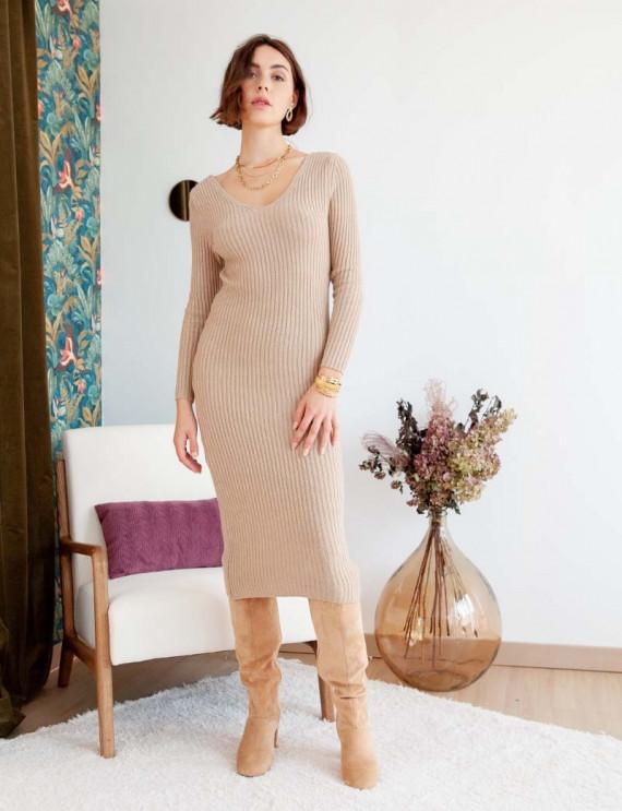 Сamel Angelina knit dress