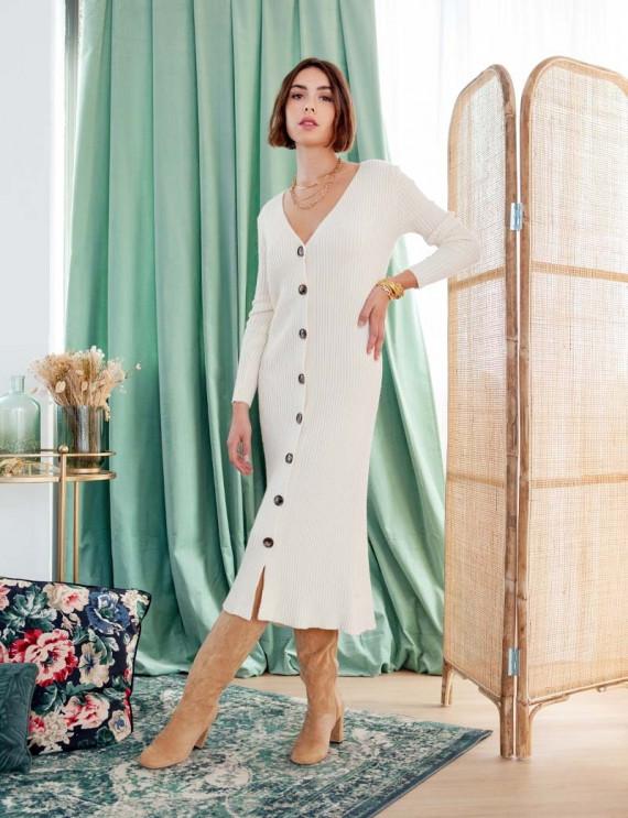 Unbleached Paola knit dress