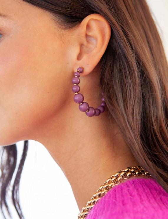 Plum Sofia earrings