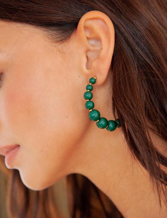 Green Sofia earrings