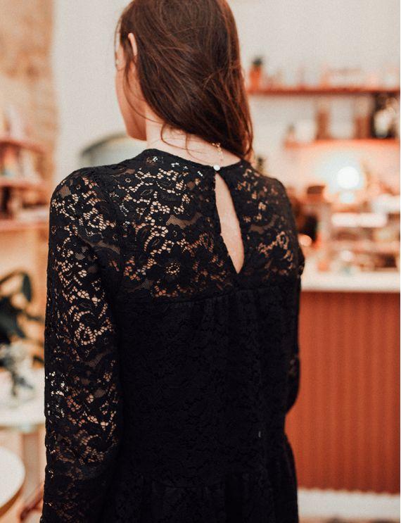 Robe noire Perle