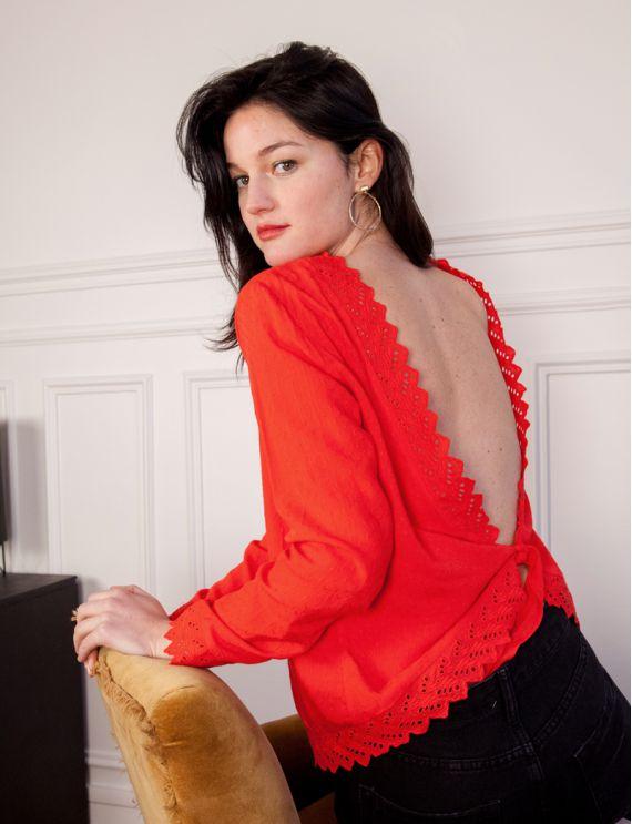 Blouse rouge Lana