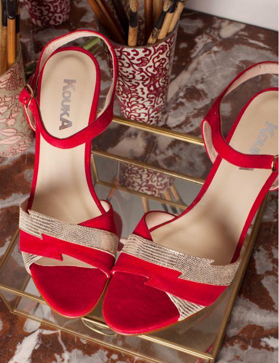 Sandales Zeste rouge