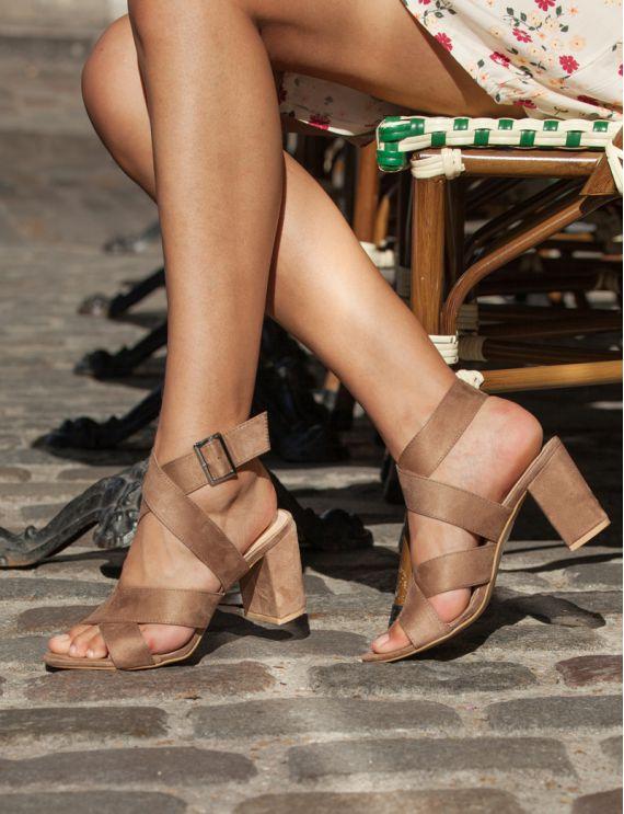 Sandales taupe Ester