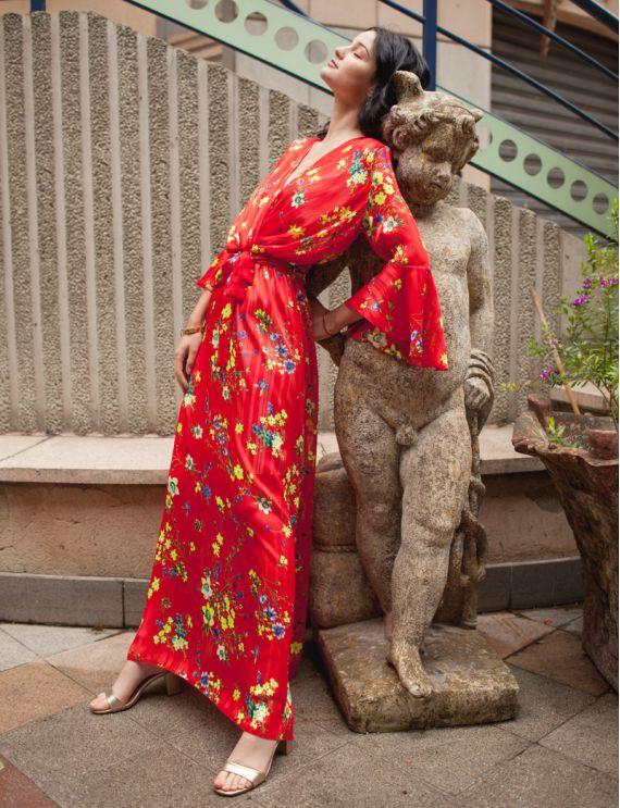 Robe rouge Jasmine