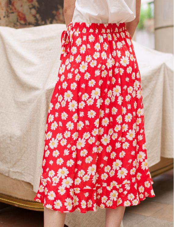 Jupe rouge Marguerite
