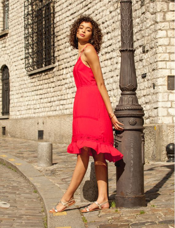 Nema red dress