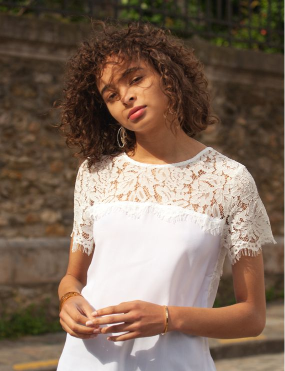 Héléa white blouse