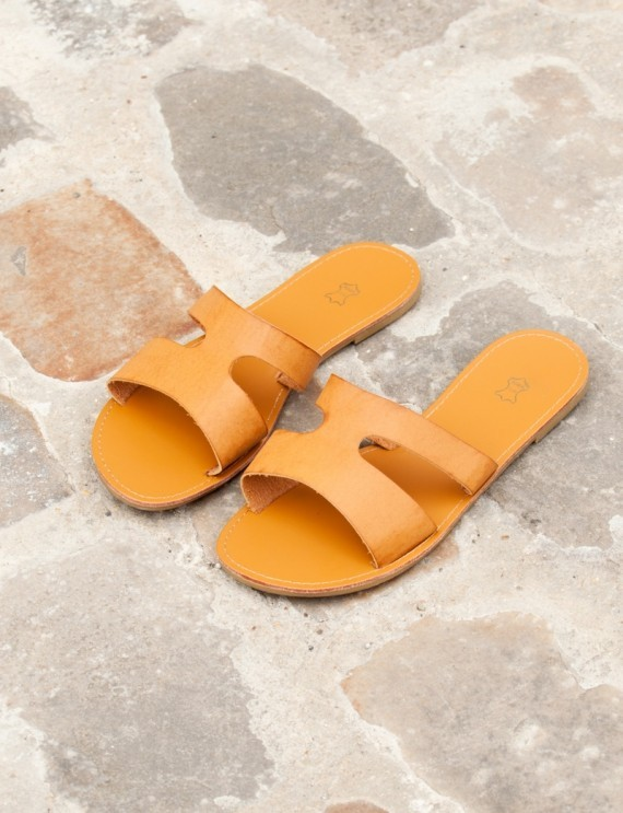 Sandales camel Verra