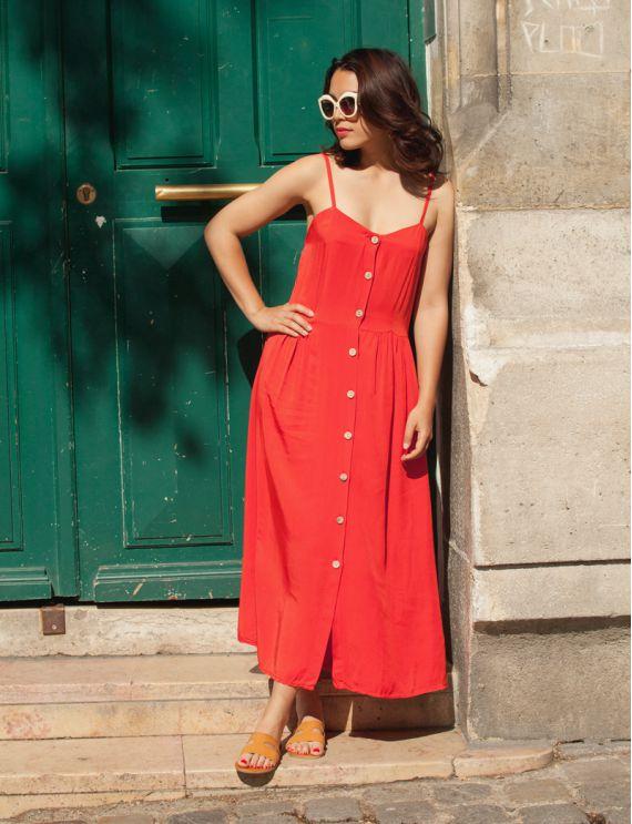 Robe rouge Cassie