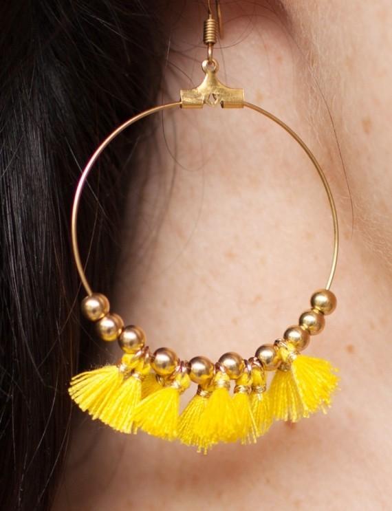 Boucles d'oreilles Ilda jaune