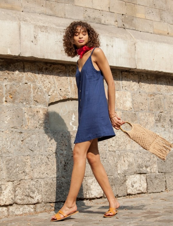 Louise blue dress