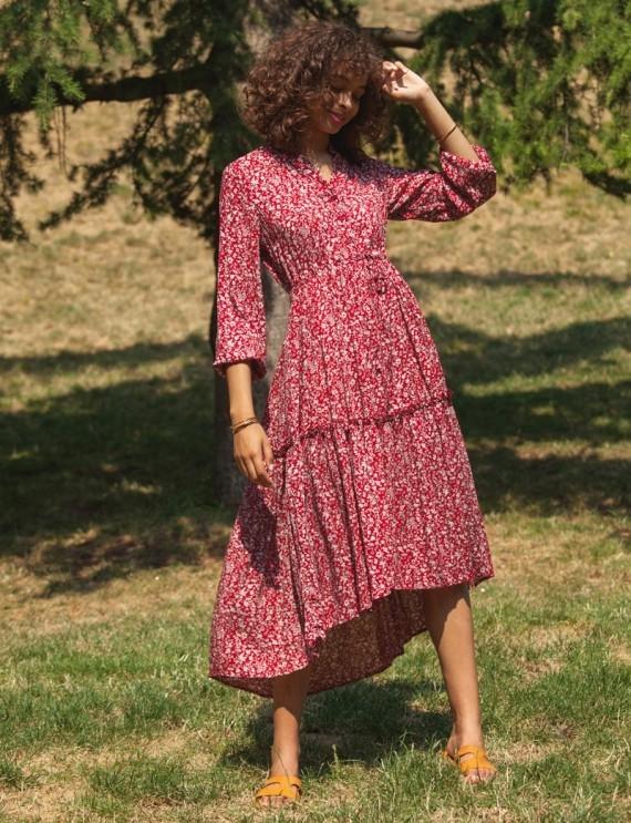 Leila burgundy dress