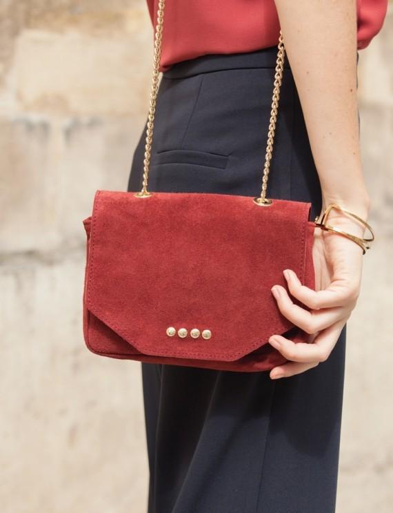 Adonis burgundy bag