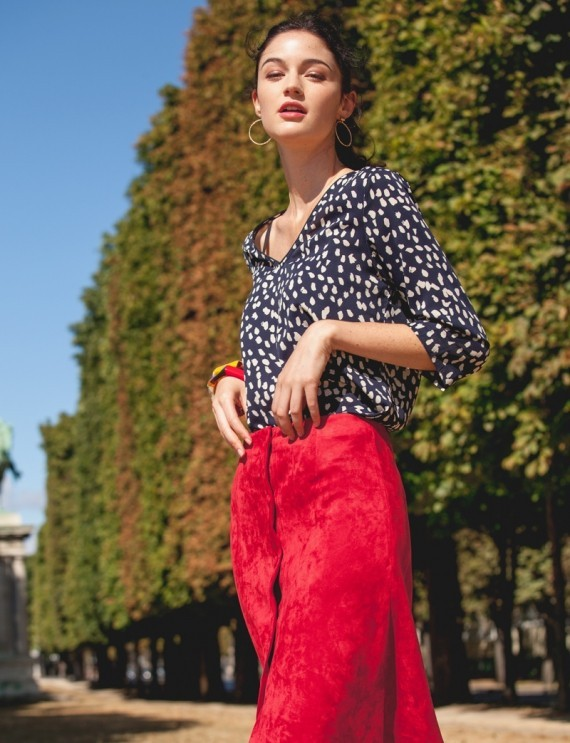 Eliane burgundy skirt