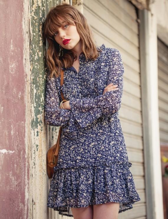 Renée navy dress