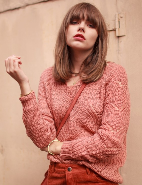 Noella blush sweater