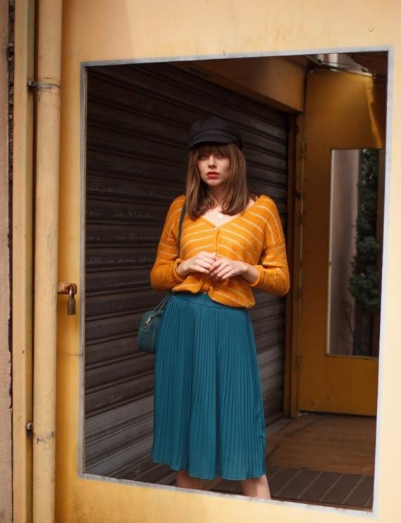 Jess pigeon blue skirt