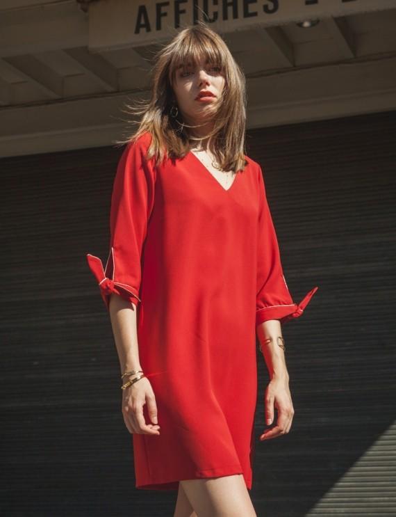 Robe rouge Maud