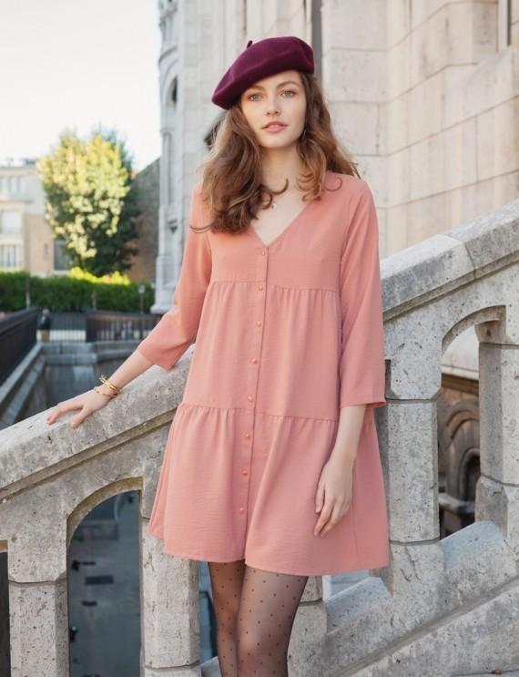 Sixtine pink dress