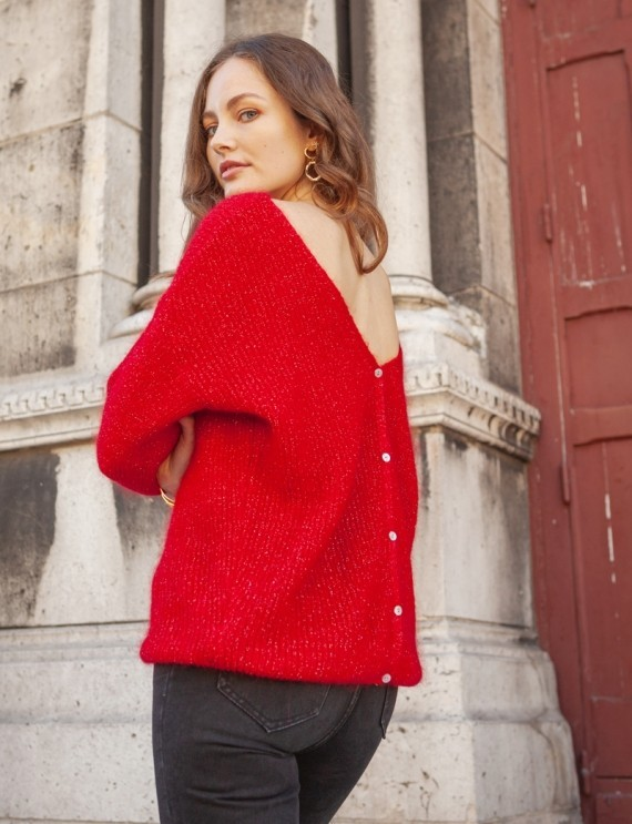 Simon red sweater