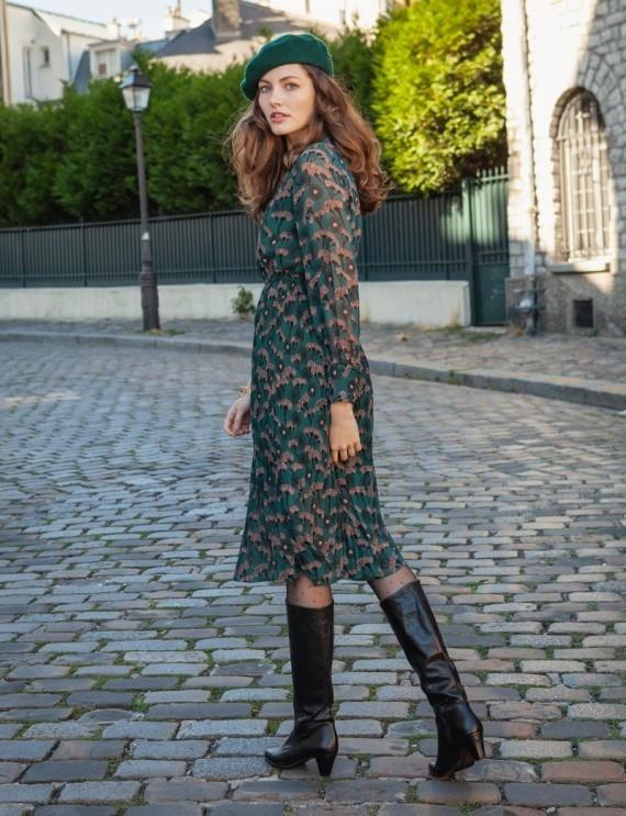 Bérénice green dress