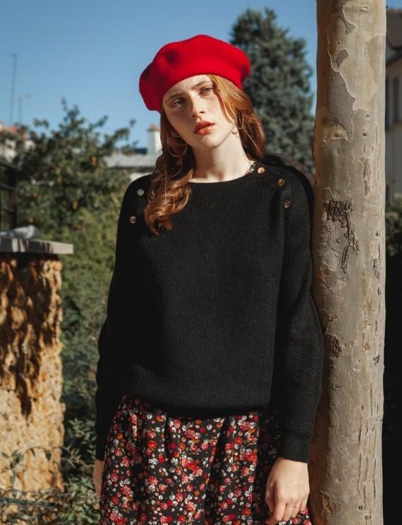 Henri black sweater