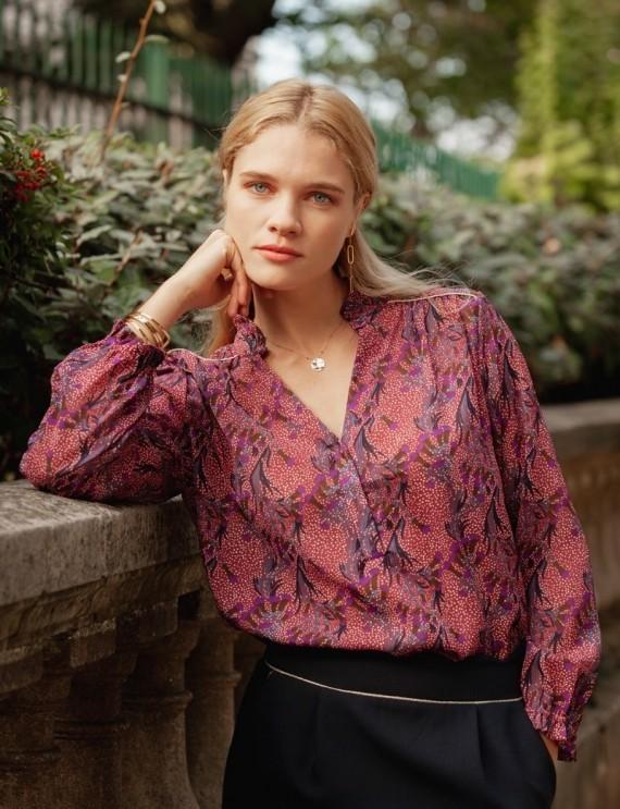 Alexine purple blouse