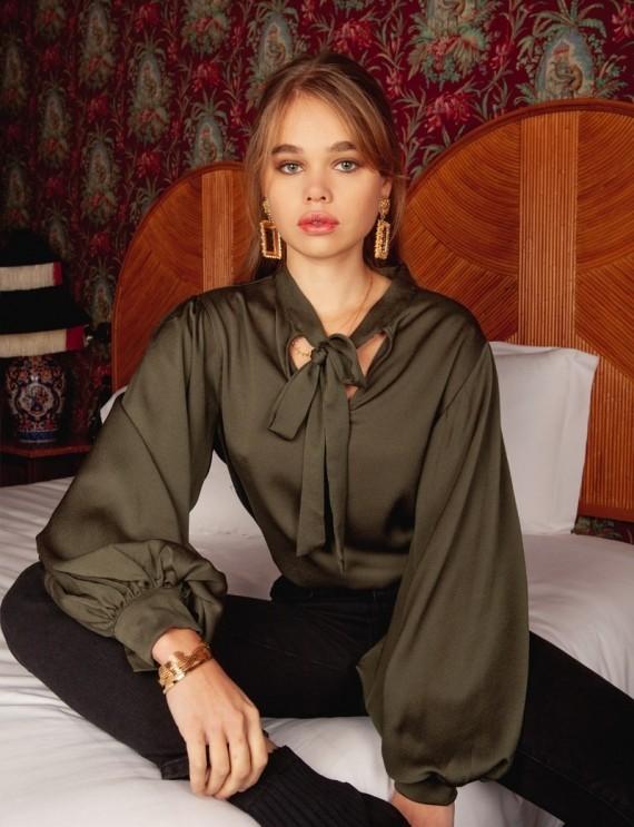 Olympe khaki blouse