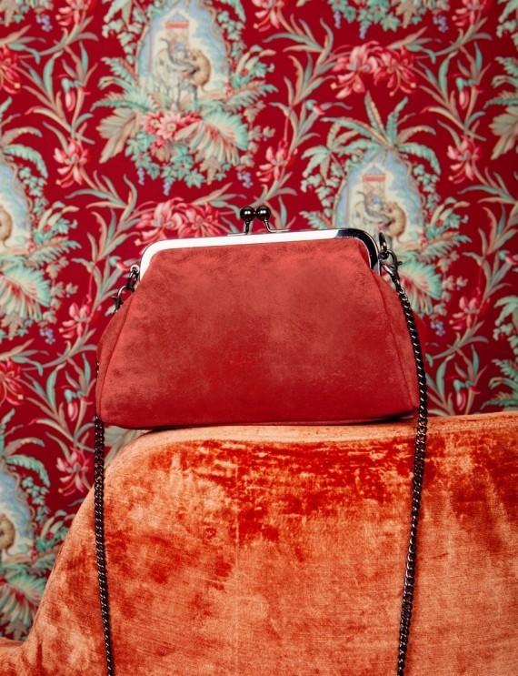 Basile burgundy bag