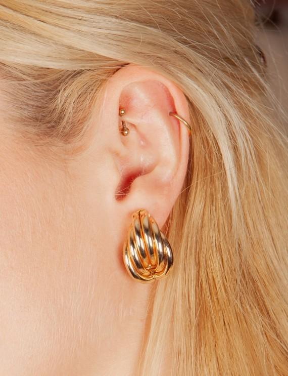 Boucles d'oreilles dorées Orme