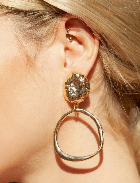 Boucles d'oreilles dorées Tina