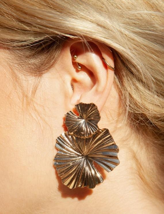 Boucles d'oreilles dorées Lila